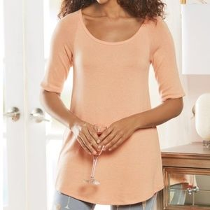 Soft Surroundings Lounge About Top Almost Apricot